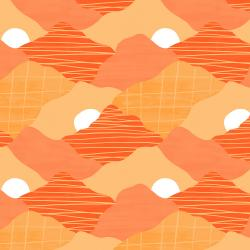 RJ3402-SS2 Wide Open Spaces - The Mountains are Calling - Sizzling Sunset Fabric