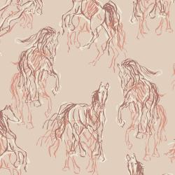 RJ2100-CL3 Wild Horses - Wild Hearts Can't Be Broken - Clay Fabric