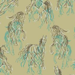 RJ2100-SM1 Wild Horses - Wild Hearts Can't Be Broken - Secret Meadow Fabric