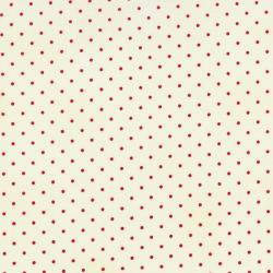 0016-011 Home Essentials - Dots - Cream/Red Fabric