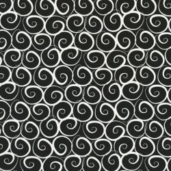 2294-002 Boutique Brights - Curls - Black/White Fabric