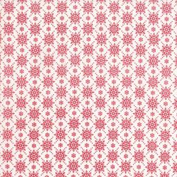 2738-001 Christmas Wishes - Snowfall - Snow Holiday Red Fabric