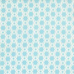 2738-003 Christmas Wishes - Snowfall - Snow Morning Sky Fabric