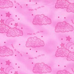 2635-003 First Words - Dream Big - Pink Fabric