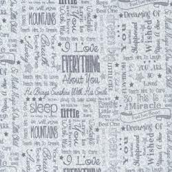 2636-001 First Words - Words - Gray Fabric