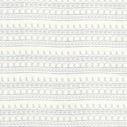 2637-001 First Words - Stripe - Cream Fabric