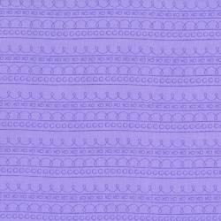 2637-005 First Words - Stripe - Lavender Fabric