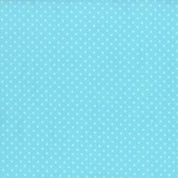 8174-133 First Words - Crazy For Dots - Deep Aqua Fabric