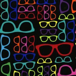 2868-002 Geekery - Spectacles - Mavro/Multi Fabric