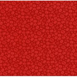 2874-005 Geekery - Germs And Amoebas - Russus Red Fabric