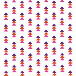 3331-001 Pow Wow Wow! - Stack Triangles - Pink Fabric