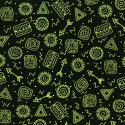 3333-002 Pow Wow Wow! - Symbol Toss - Lime Fabric