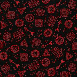 3333-003 Pow Wow Wow! - Symbol Toss - Red Fabric