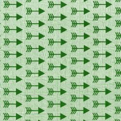 3335-001 Pow Wow Wow! - Arrows - Green Fabric