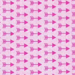 3335-003 Pow Wow Wow! - Arrows - Pink Fabric