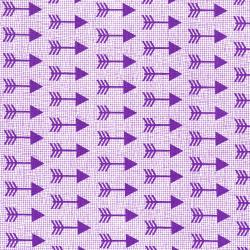 3335-004 Pow Wow Wow! - Arrows - Purple Fabric