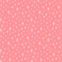 3621-003 Retro Road Trip - Stars - Coral Fabric