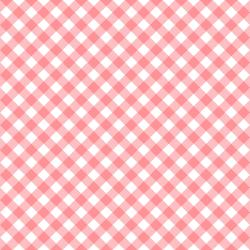 3622-002 Retro Road Trip - Gingham - Coral Fabric