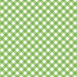 3622-003 Retro Road Trip - Gingham - Green Fabric