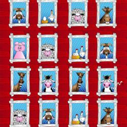 1889-001 The Farm At Whistlepig Creek - Mini Panel - Multi Fabric