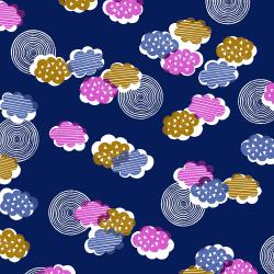 TS100-MI2 Happy Day - Clouds - Midnight Fabric