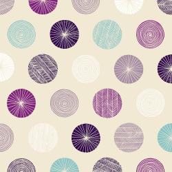 TS105-SA1 Happy Day - Circle - Sand Fabric