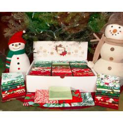 RJ001P-001 Merry Christmas Fat Quarter Box