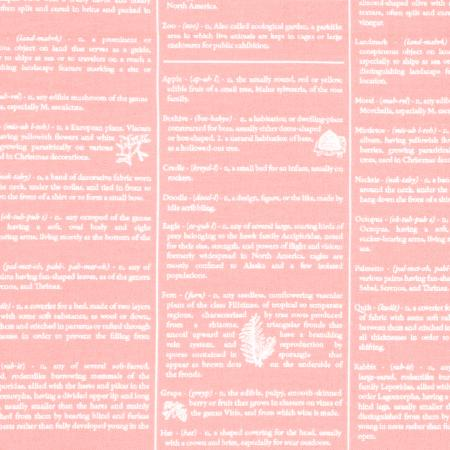 2876-002 One Room Schoolhouse - Dictionary - Blush Fabric