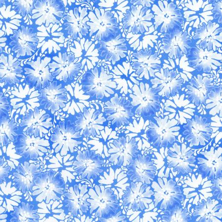 2946-001 Daisy Blue - Graceful Garden - Blue Sky Fabric