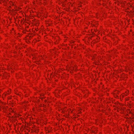 3163-002 Shiny Objects - Holiday Twinkle - Dazzling Damask - Radiant Ruby Metallic Fabric
