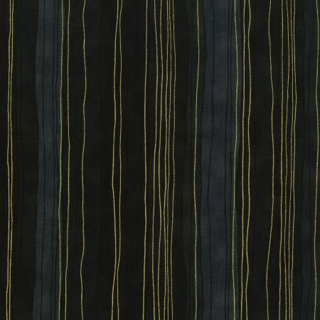 3023-009 Shiny Objects - Precious Metals - Sterling Stripes - Onyx Metallic Fabric 1