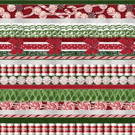 2785-002 Suite Christmas - Land Of The Sweets - Peppermint Metallic Fabric