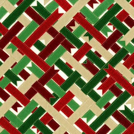 2786-001 Suite Christmas - Ribbon Wrap - Candy Cane Metallic Fabric