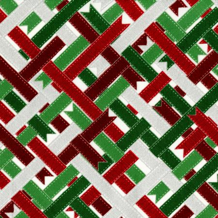 2786-002 Suite Christmas - Ribbon Wrap - Peppermint Metallic Fabric