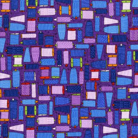 3424-003 Sewing 101 - Twisted - Purple Fabric