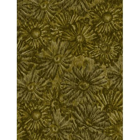 JB202-OL5 Andalucia - Daisies - Olive Fabric 1
