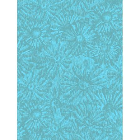JB202-TE1 Andalucia - Daisies - Teal Fabric 1