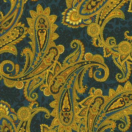 2794-001 Casablanca - Paisley - Teal Fabric
