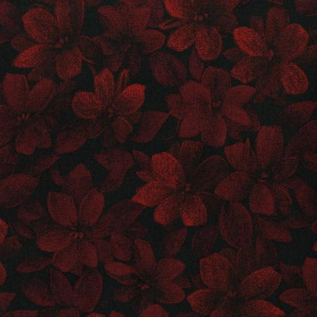3420-004 Midnight Garden - Packed Floral - Red Fabric