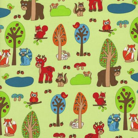 2207-003 Woodland Park - Forest Friends - Multi/Green Fabric
