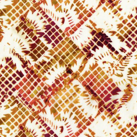 3065-002 Urban Artifacts - Fiesta Grid - Curry Fabric