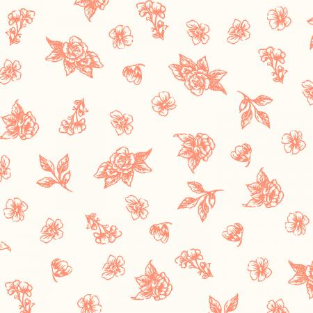 PS204-CA4 Summer Rose - Josephine - Cayenne Fabric