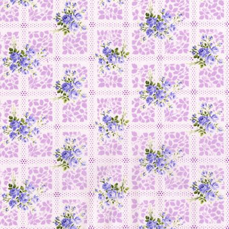 3146-001 Afternoon In The Attic - Memento - Lavender Fabric