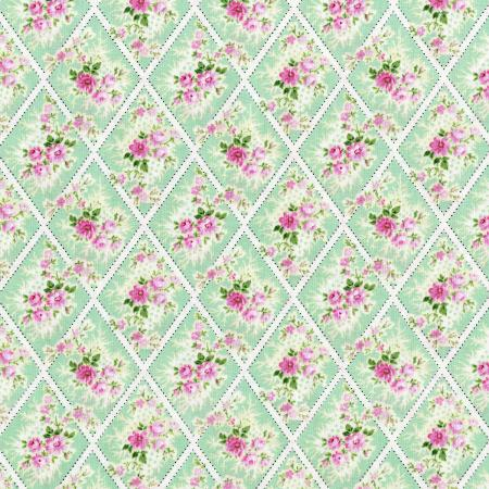 3147-002 Afternoon In The Attic - Miniature Bouquet - Sweet Pea Fabric