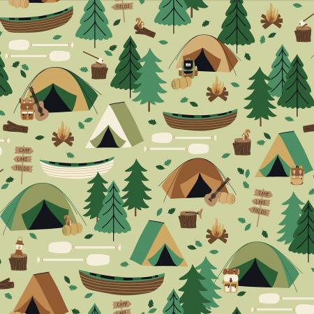 RJ1600-MO2 Camping Crew - Campground - Moss Fabric 1