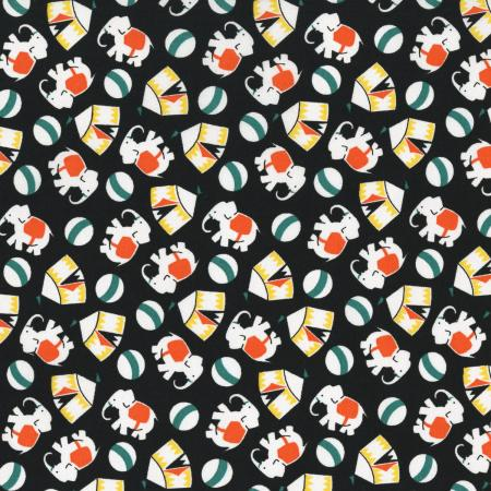 2508-003 Everything But The Kitchen Sink XI - Novelty Circus - Black Fabric