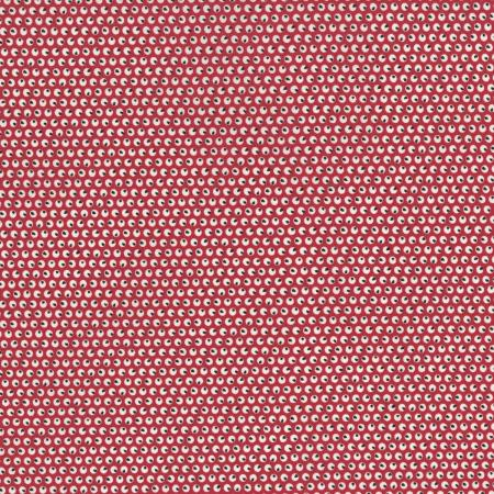 2512-003 Everything But The Kitchen Sink XI - Circles - Red Fabric