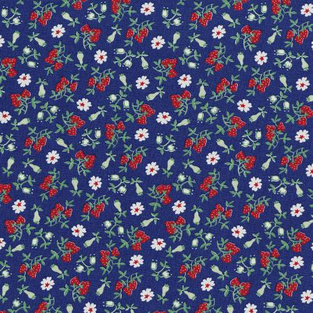 3304-003 Everything But The Kitchen Sink XIII - Barbara\'s Berries - Blueberry Fabric