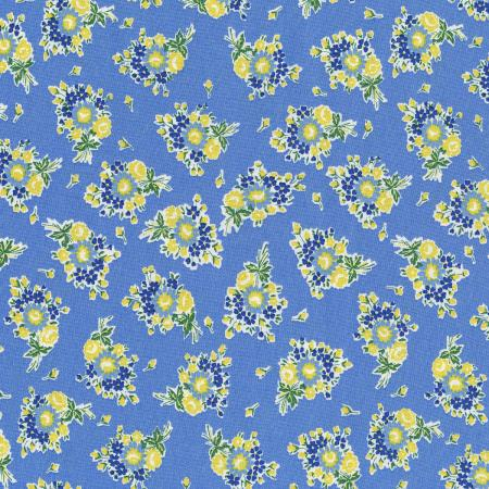 3305-003 Everything But The Kitchen Sink XIII - Bouquet Beauties - Forget Me Not Fabric