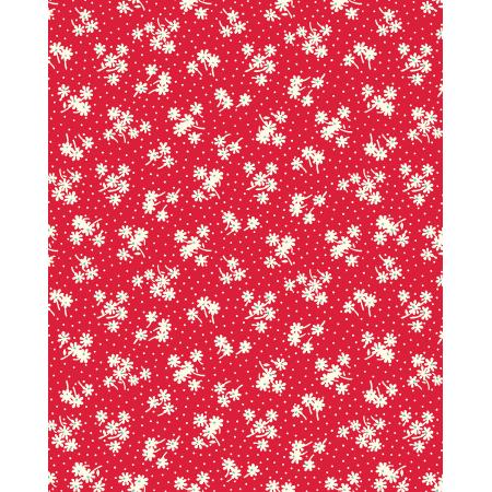 3596-001 Everything But The Kitchen Sink XIV - Daisy Dot - Cherry Fabric